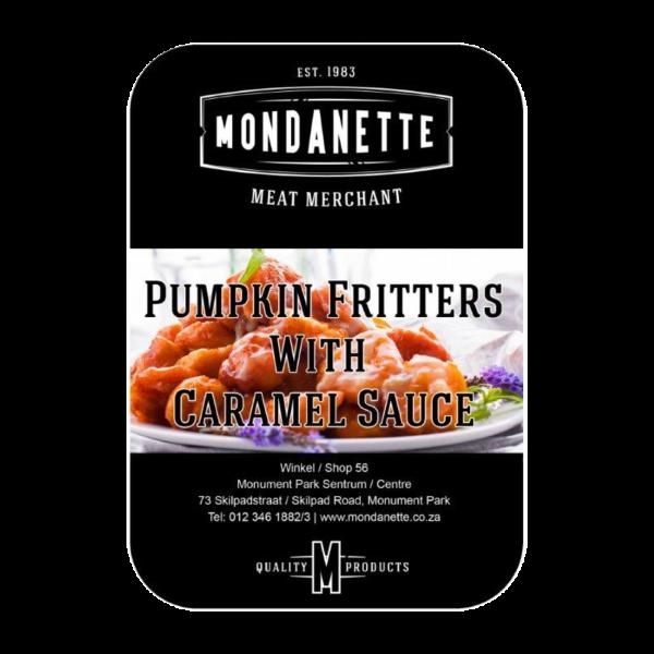 pumpkin fritters with caramel