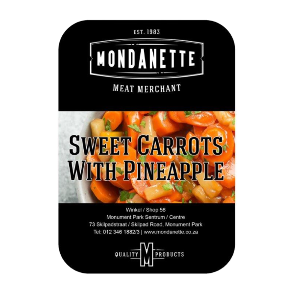 sweet carrots with pineapples